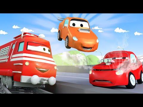 Troy el Tren -  Jerry El Carro de Carreras Se Daña Durante La Practica! | Dibujos animados