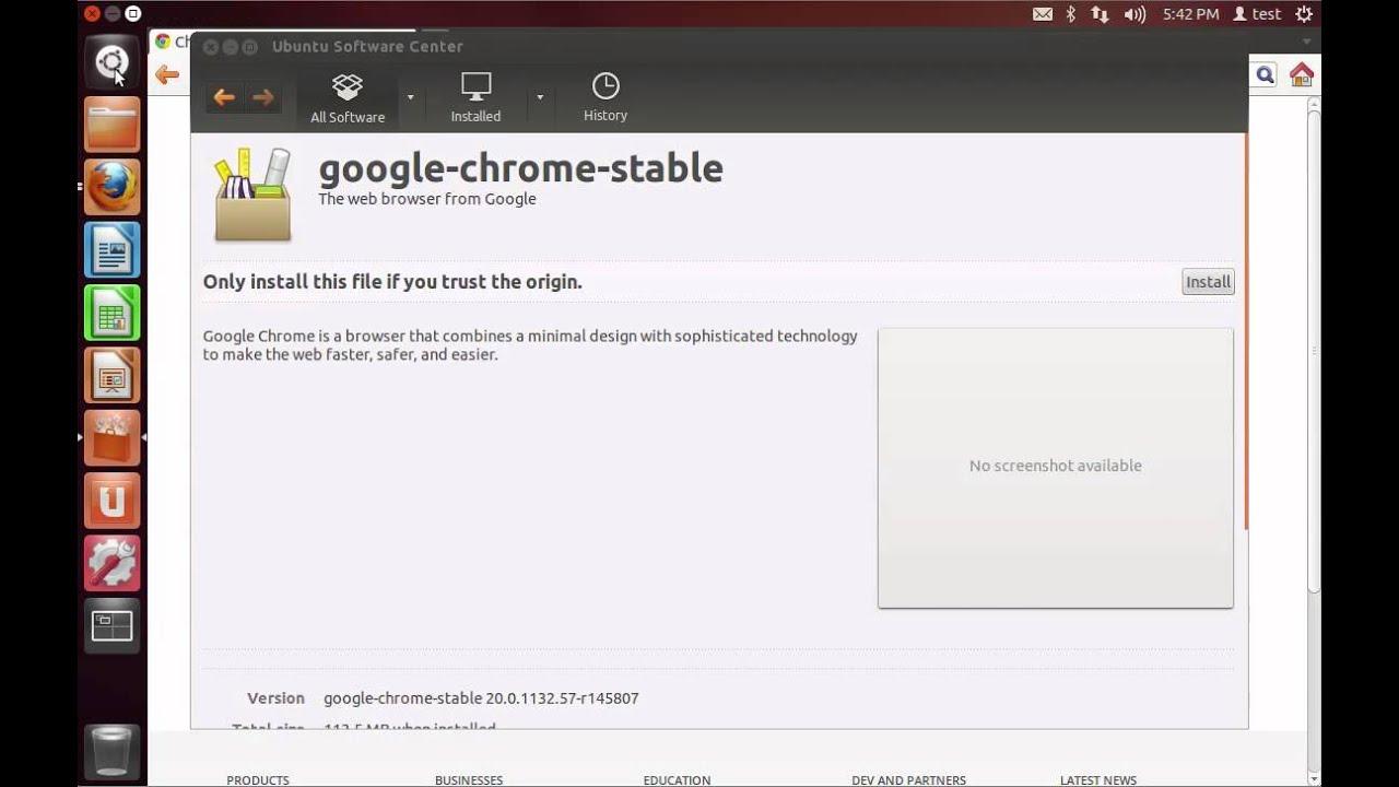 download google chrome latest version for ubuntu 12.04