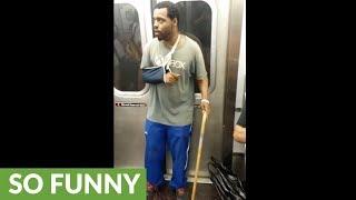 Dude on NY subway freestyles for passengers