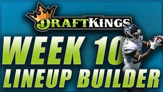 DRAFTKINGS NFL WEEK 10 LINEUP TIPS Q&A: DFS