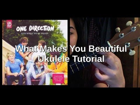 What Makes You Beautiful Simplified Ukulele Tutorial Youtube