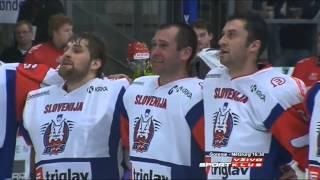 Slovenska himna po uvrstitvi Risov na Olimpijske igre
