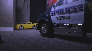CRAZY POLICE CHASE Ford Mustang Toy Cars Kids FUN! Action!