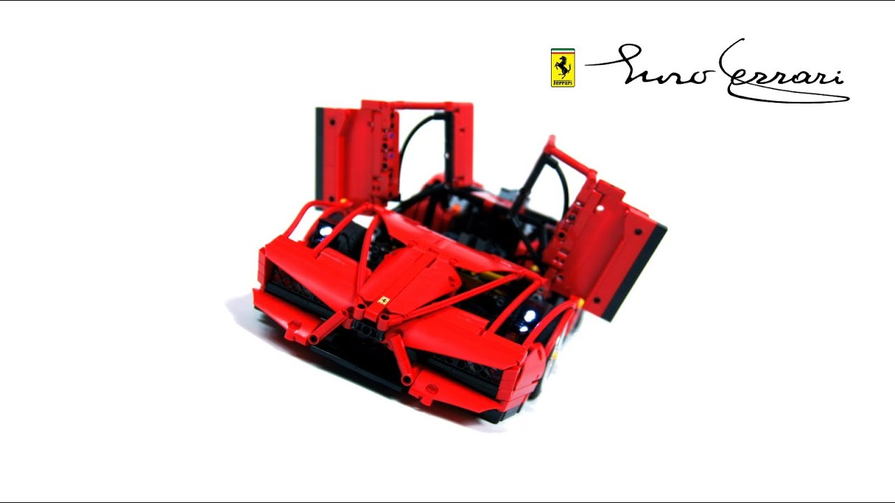 lego technic motorized ferrari enzo youtube. Black Bedroom Furniture Sets. Home Design Ideas