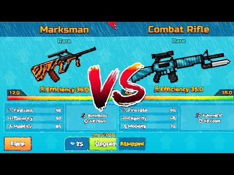 Pixel Gun 3D - Marksman VS Combat Rifle