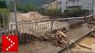 Alluvione lampo a Dervio