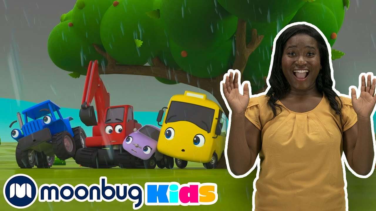 Rain Rain Go Away | Sign Language For Kids | Kids Cartoon | Go Buster | ASL