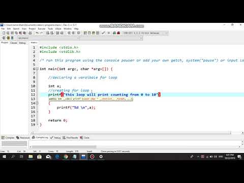 For Loop : Print 0-10 Counting - C Programming Tutorial thumbnail