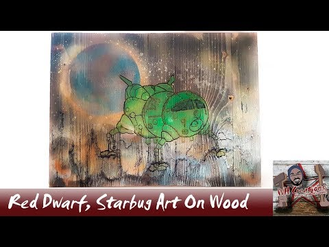 Red Dwarf, Starbug Art On Wood, Woodworking project