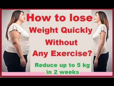 How to lose weight in 1 week without exercise in english