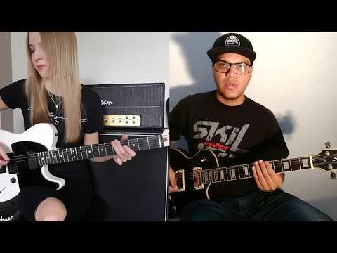skillet---comatose-(guitar-cover-by-annika-jaschke-&-alan-moreira)