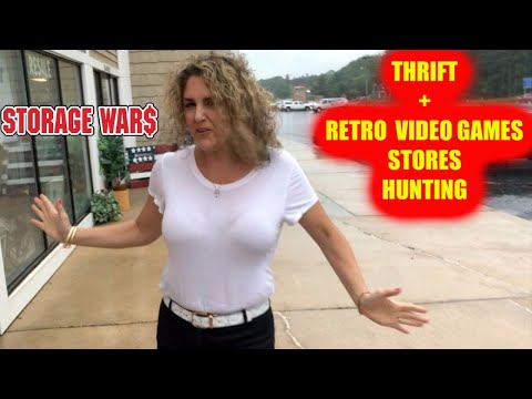 THRIFT STORE & RETRO VIDEO GAMES HUNTING In Michigan Storage Wars