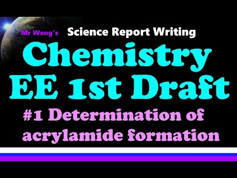 How to write an IB Chemistry Extended Essay EE 1st Draft Feedback