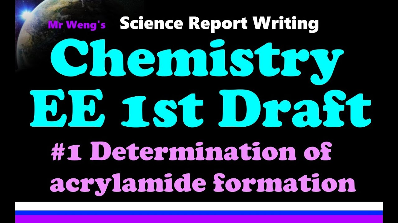 how to write an ib chemistry extended essay ee st draft feedback  how to write an ib chemistry extended essay ee 1st draft feedback
