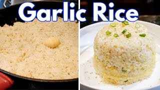 How to make Garlic Fried Rice + Garlic Rice Egg Cheese Dome| Easy Step by Step Recipe