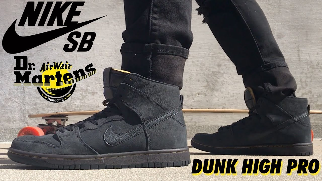 new concept 7bbf4 c3b00 DOC MARTENS x NIKE SB DUNK HIGH PRO DECONSTRUCTED!