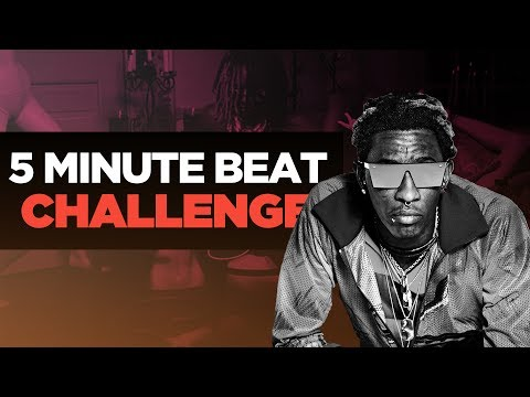 5 MINUTE BEAT CHALLENGE   Making A Young Thug Type Beat From Scratch In FL Studio   Nick Mira