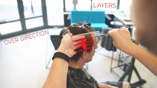 square layers haircut for men