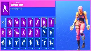 DANCE EMOTES V2 (HIGH PITCH) with *NEW* ROSE TEAM LEADER Skin! Fortnite Battle Royale