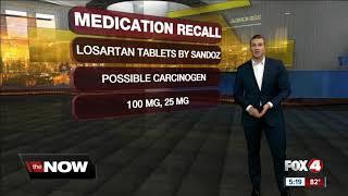 Blood pressure drug recall Sandozs losartan potassium hydrochlorothiazide