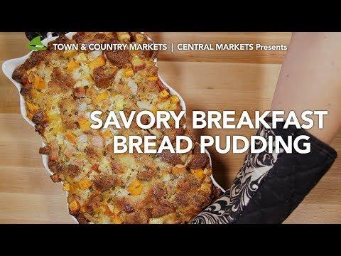 Savory Breakfast Bread Pudding