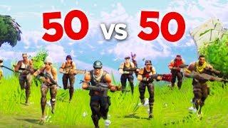 FORTNITE - PRIMEIRA PARTIDA de 50 vs 50!!! (MODO NOVO)
