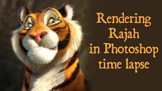 "Speed Painting - Photoshop Rajah from ""Aladdin"""