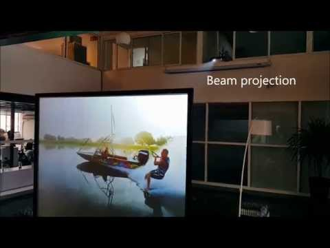 Making Glass Rear Projection Screen using