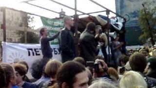 Митинг защита Химкинского леса Катя Гордон