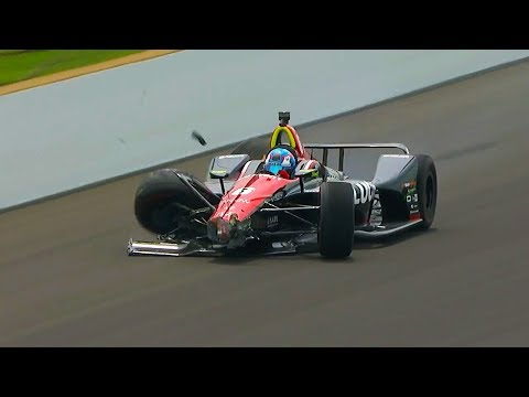 Robert Wickens Crashes During Practice for 102nd Indy 500