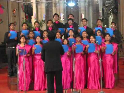 CSF choir performance in 2008 in All Saints Cathedral, Allahabad.avi