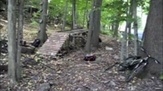 Backyard Mountain Biking- Featuring Ladder Bridges And Jumps