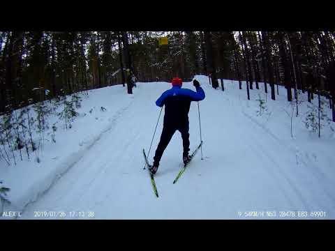Лыжи Тиса для конькового хода. Текущая скорость. Tisa Top Skating на лыжной трассе