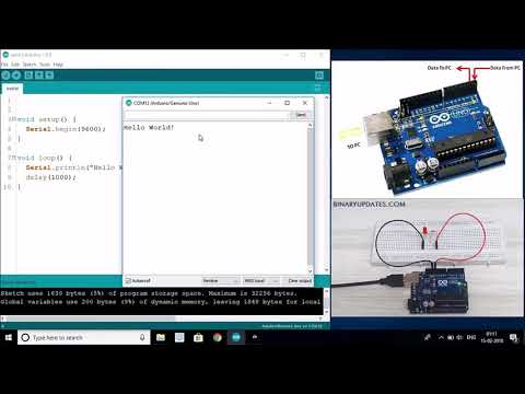 Arduino Serial Communication Using UART