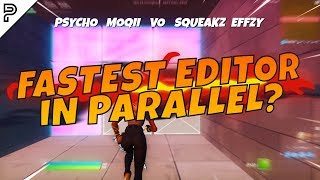 Who is the FASTEST EDITOR in Parallel? (Psycho, Moqii, Vo, Squeakz, & Effzy)