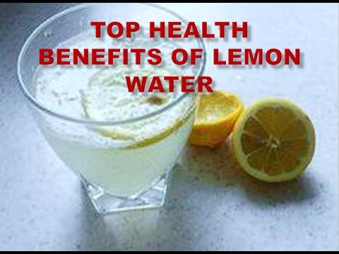 Top health benefits of lemon water