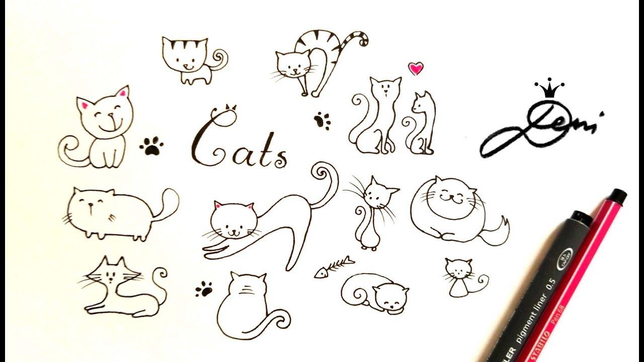 Ganz Einfach Katze Zeichnen Katze Malen Cats Doodle