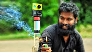 SUGAR ROCKET MAKING AND LAUNCHING WITH CAMERA | M4 TECH |