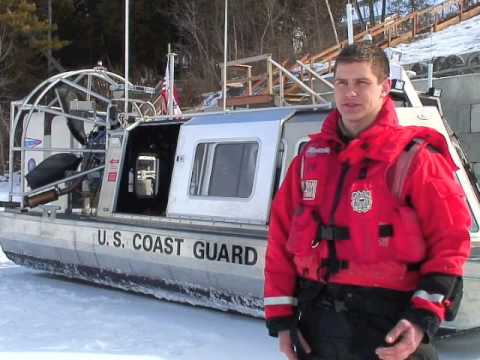 Coast Guard Station Burlington Demonstrates Their Airboat