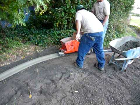 Installation Of Landscape Curbing