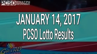 PCSO Lotto Results January 14, 2017 (6/55, 6/42, 6D, Swertres & EZ2)
