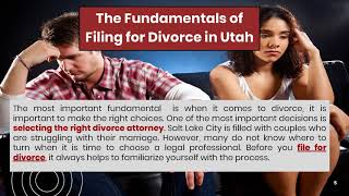 Going to file a divorce in Utah