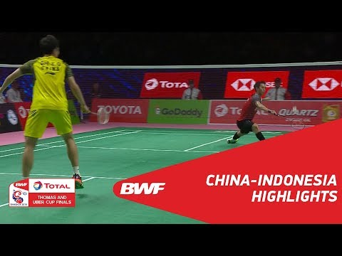 TOTAL BWF Thomas & Uber Cup Finals 2018 | China vs Indonesia SF | Highlights | BWF 2018