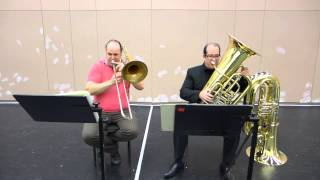 Wagner Lohengrin Act 3, tuba and bass trombone orchestral excerpts