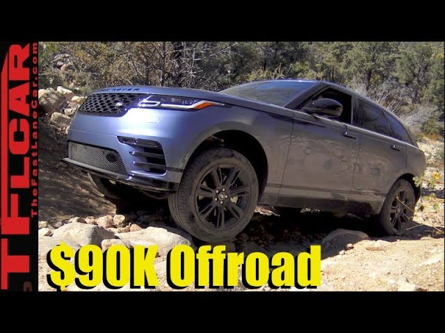 Don't Try This At Home! We Take a New $90K  2018 Range Rover Velar Off-Road