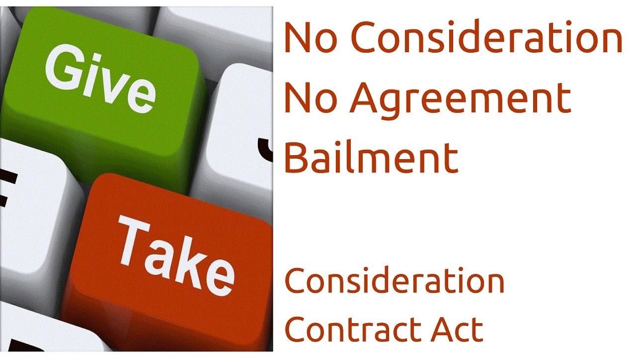 What Is Bailment Consideration Indian Contract Act Law Ca Cpt