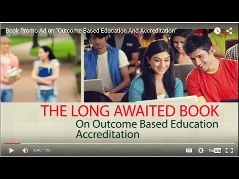 "Book Promo Ad on ""Outcome Based Education And Accreditation"""