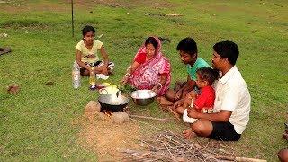 Village Style Cooking Ash Gourd Leaf Pakora Recipe | Indian Village Evening Food Routine