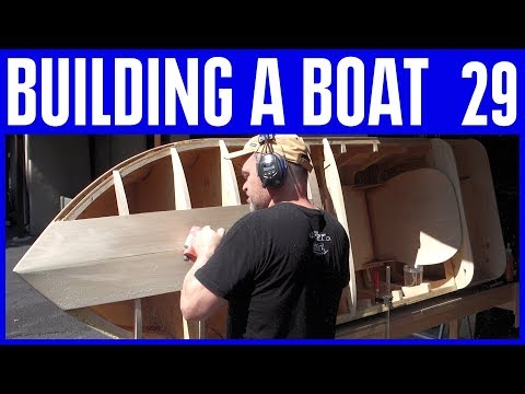 How to Build a Small Wooden Electric Boat #29 Not Using Marine Plywood
