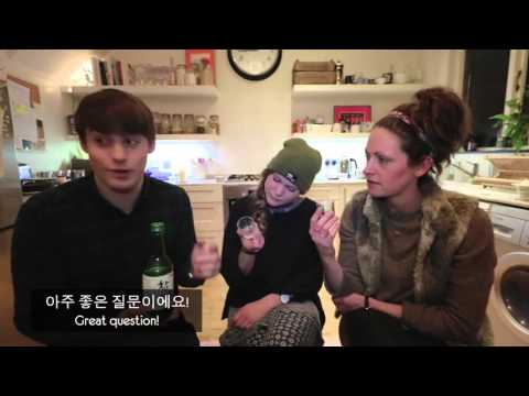 Soju, Korean beer (maekju), and the mix somaek - English People try Soju and Beer!!